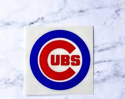 Chicago Cubs Decal Etsy