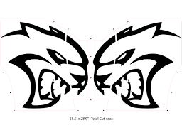 Hellcat Logo Decals 28 Inch Pair Fits Dodge Challenger Dodge Charger Vinyl Graphics