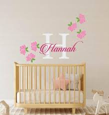 Rose Wall Decal Flower Wall Decal Nursery Wall Decal Girls Etsy