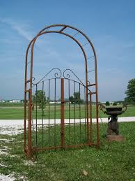 wrought iron garden arch gate