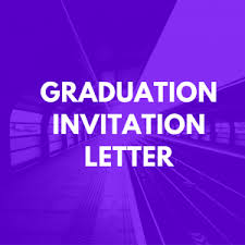 graduation invitation letter sle