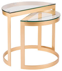 demi contemporary nesting tables gold
