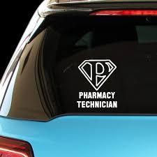 Amazon Com Pressfans Pharmacy Technician Career Occupation Decal Sticker Automotive