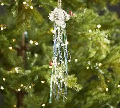 tinsel jellyfish ornament