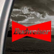 Budweiser Red Decal Vintage Car Truck Window Red Sticker Dewey J Smither