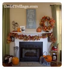fall mantel the diy village