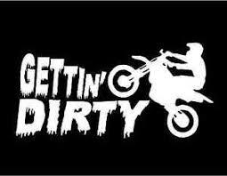 Dirt Bike Decal Gettin Dirty Car Truck Window Motor Bike Vinyl Sticker Graphic Ebay