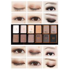 cosmetic matte eye shadow make up set