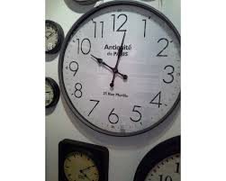 extra large round metal wall clock