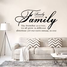 Shop Family Like Branch Quote Wall Sticker Removable Pvc Art Decals Home Office Decor Black Overstock 30107025