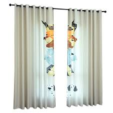 Dog Cartoon Cute Kids Room Window Curtains Boys Fun Drapes