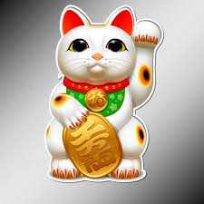 Lucky Cat Maneki Neko Vinyl Stickers Car Laptop Sticker Good Etsy