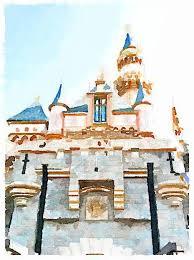 watercolor painting printables castle