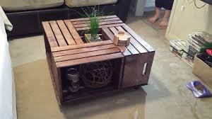 crate coffee table 6 steps