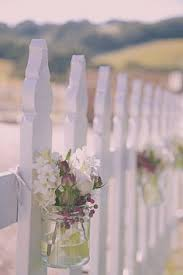 Image Result For How To Decorate A White Picket Fence For A Wedding White Picket Fence Wedding Wedding Flowers