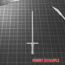 Kylo Ren Lightsaber Decal Raven Decals Waterproof Vinyl Many Colors Available