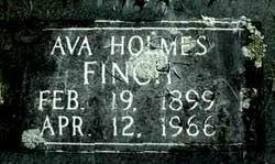 Ava Holmes Finch (1899-1966) - Find A Grave Memorial
