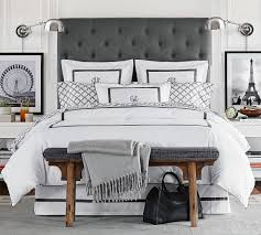 lorraine tufted upholstered tall bed