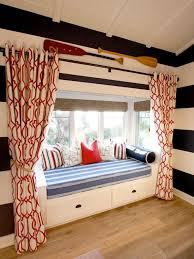 Draperies Add Privacy Kids Room Window Seat Kidspace Interiors