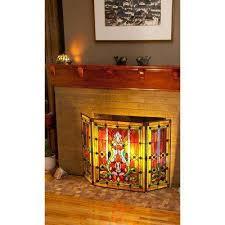 glass fireplace screens fireplaces