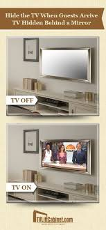 tv behind a mirror tv in