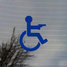 Handicap Gun Owner Vinyl Decal Sticker Free Us Shipping For Car Laptop Tablets Etc