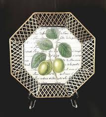 octagon shaped decoupage plate