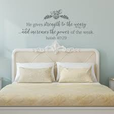 Isaiah 40 29 Strength To The Weary Wall Decal A Great Impression