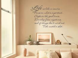 Inspirational Life Is Like A Camera Wall Art Quote Modern Transfer Pvc Decal