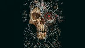 hd wallpapers terror skull wallpaper