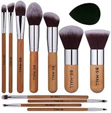 bs mall makeup brush set 11pcs bamboo