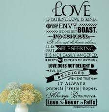 Enchantingly Elegant Love Is Patient Love Is Kind Christian Wall Decal Reviews Wayfair