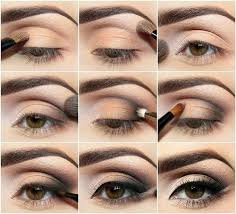 apply makeup for brown eyes smokey eye