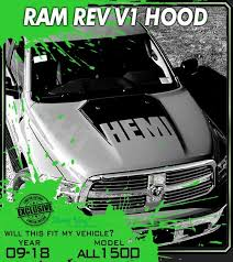 Rev 1 2009 2018 Dodge Ram 1500 Truck Hood Stripe Hemi Graphics 3m Vinyl Decal Kit Truck Graphics Hood Stripe Hemi