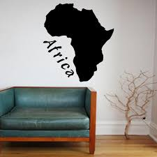 Wall Stickers Africa Map Afrocrush