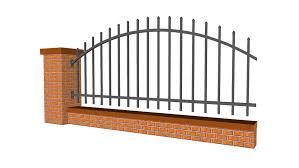 Brick And Steel Fence Detailed 3d Warehouse
