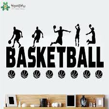 Yoyoyu Wall Decal Play Basketball Stickers Vinyl Wall Decal For Boys Room Home Decoration Sports Poster Vinyl Art Qq03 Wall Stickers Aliexpress