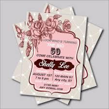14 Unids Lote Invitaciones Vintage De 50 Anos Para Adulto