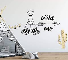 Amazon Com Teepee Tent Wall Decals Rustic Art Cowboy Decor Quotes Wall Decal Arrow Vinyl Decal Baby Room Decor Nursery Decal Kids Art Mural Decor And Stick Wall Decals Home Kitchen