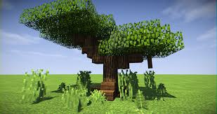 If You Re Lazy Like Me Acacia Trees Are Great For Custom Trees Minecraft