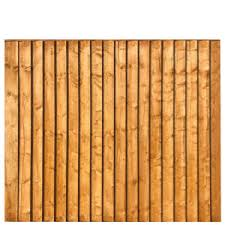 Framed Featheredge Fence Panel 6 Wide X 6 High A P Fencing
