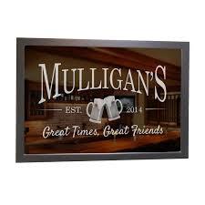 engraved custom bar mirror beer mugs