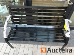 garden bench wood with metal frame