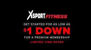 xsport fitness join for only 1 down