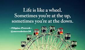 hidup itu seperti roda yang berputar terkadang anda berada di