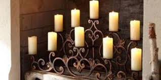 fireplace candle holder in decors