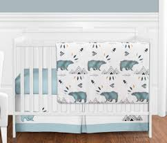 blue black bear mountain baby boy 4pc