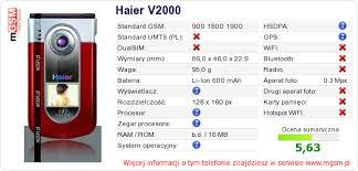 Twojej stronie Haier V2000 :: mGSM ...