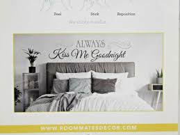 Roommates Always Kiss Me Goodnight Wall Decal New In Box For Sale Online