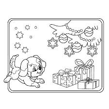 Kerst Hond Vectoren Illustraties En Clipart 123rf